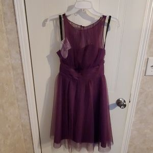 Plum Alfred Angelo dress